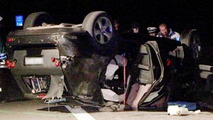2012 Mercedes M-Class prototype in Autobahn accident - 1 fatality