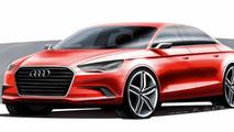 Audi A3 sedan concept officially revealed for Geneva [video]