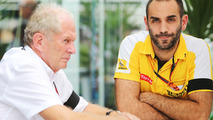 (L to R): Dr Helmut Marko, Red Bull Motorsport Consultant with Cyril Abiteboul, Renault Sport F1 Managing Director