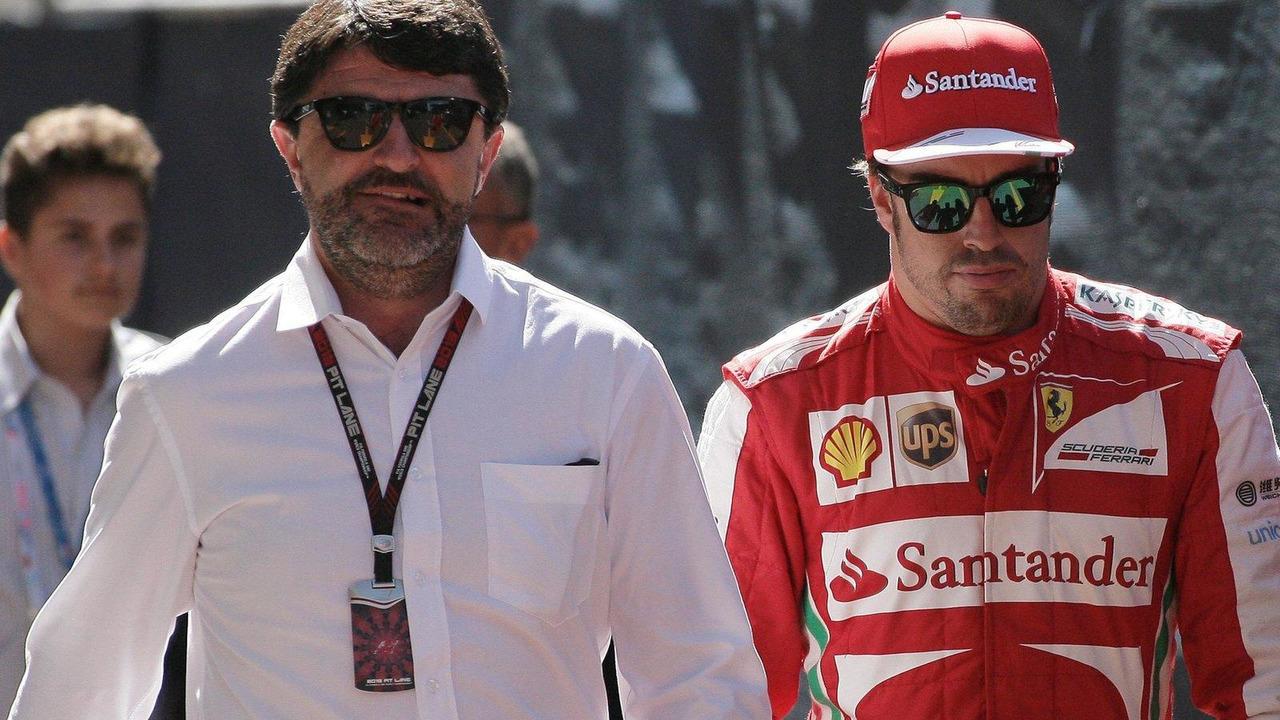 Fernando Alonso with Luis Garcia Abad 26.05.2013 Monaco Grand Prix