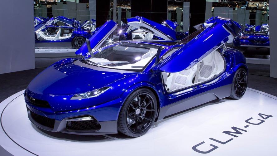 GLM G4 EV supercar debuts in Paris