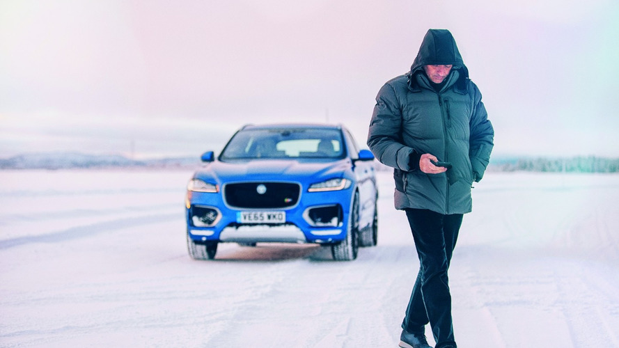 Jose Mourinho goes ice skating with Jaguar F-PACE [video]