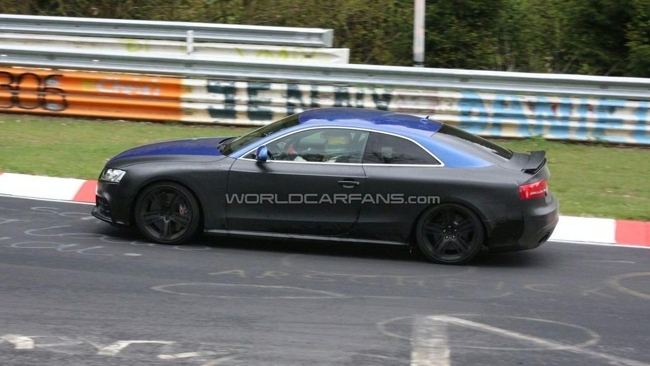 Audi RS5 spy photo at Nurburgring