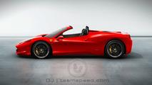 Rendered Speculation: More Ferrari 458 Italia Spider