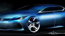 Lexus premium compact concept teaser sketch