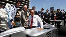 L.A. mayor Antonio Villaraigosa celebrates Formula E arrival