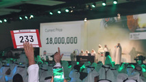 """Emirati businessman pays $4.9M for """"1"""" license plate"""
