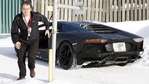 Lamborghini Aventador Roadster prototype spy photo