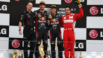 Adrian Newey, Mark Webber, Sebastian Vettel, Fernando Alonso, Korean Grand Prix, 14.10.2012