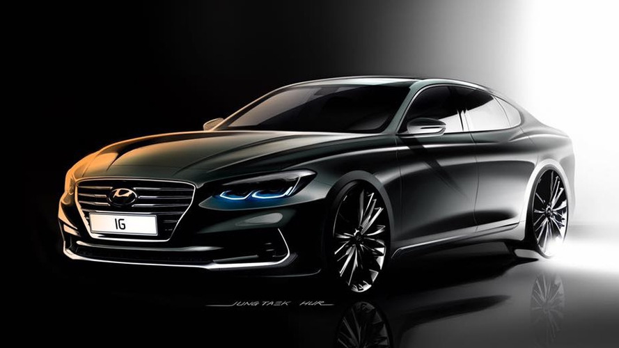 Hyundai sketches out sharper 2017 Azera with premium vibe