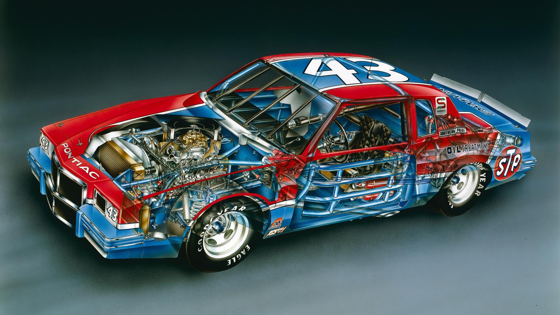 Kimble Kutaways 1982 Richard Petty No 43 Pontiac Grand Prix