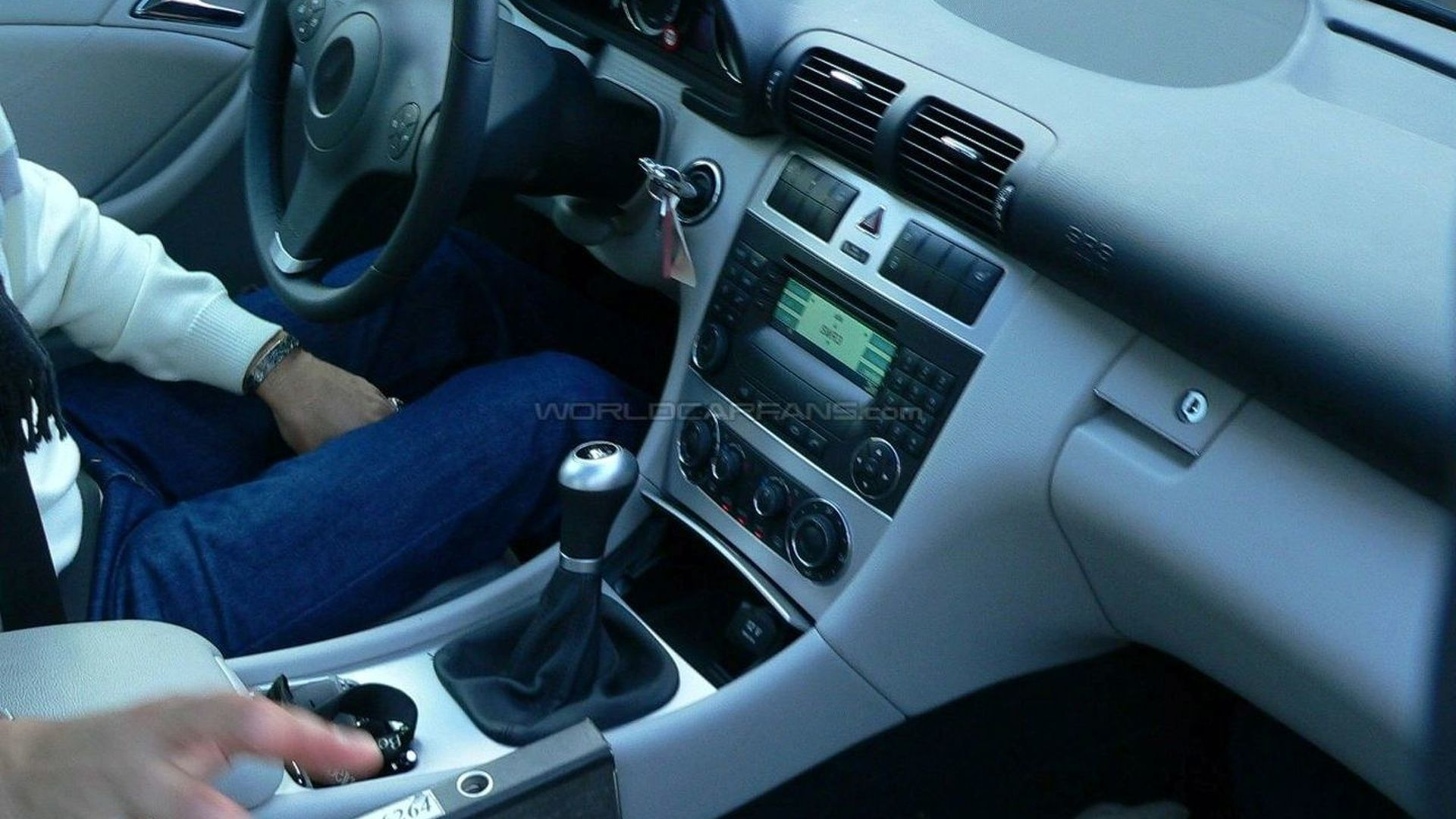 Mercedes C-Class Sport Coupe Spied with Redesigned Interior