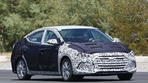 2016 Hyundai Elantra spied with a Genesis-inspired front fascia