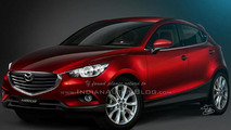 Mazda CX-3 rendered with Hazumi concept influences