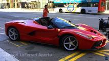 La Ferrari LaFerrari Aperta vue en tournage à Barcelone