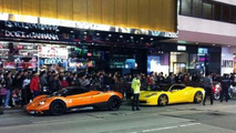 Pagani Zonda F in front of Dolce & Gabanna store during protest, 600, 26.01.2012