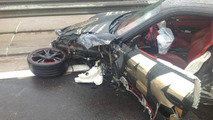 Porsche 997 Turbo wrecked during Gumball 3000