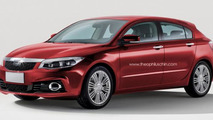 Qoros 3 Sedan priced from 16,000 EUR, hatchback rendered