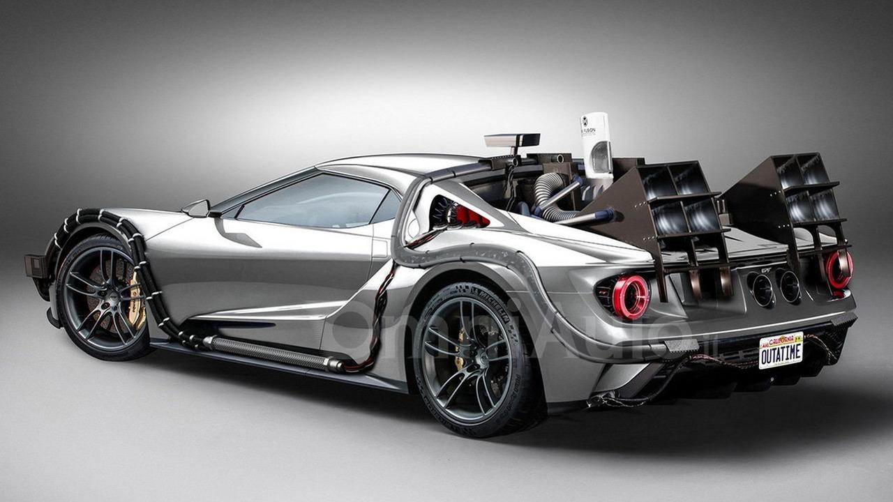 2017 Ford GT time machine BTTF render