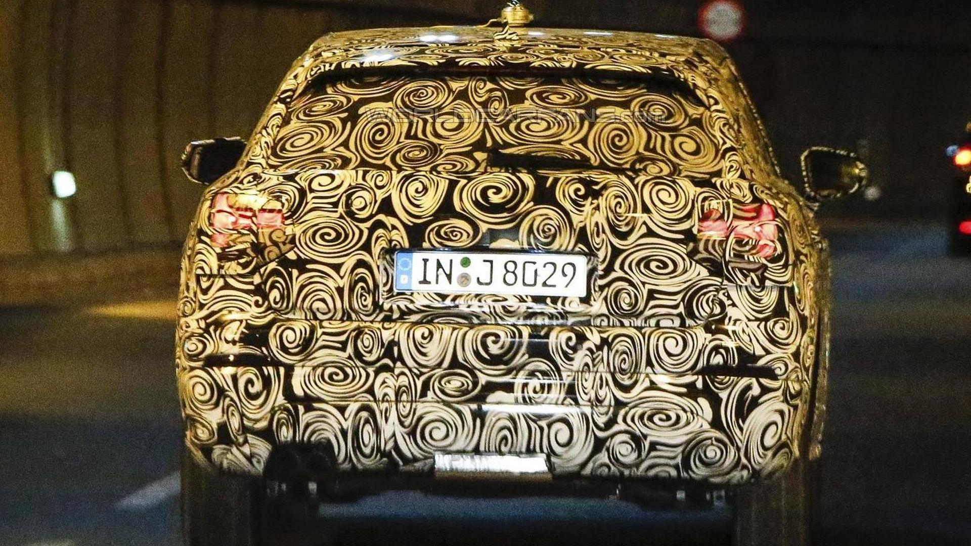 2017 Audi Q1 spied looking like a mini Q7 with steel wheels