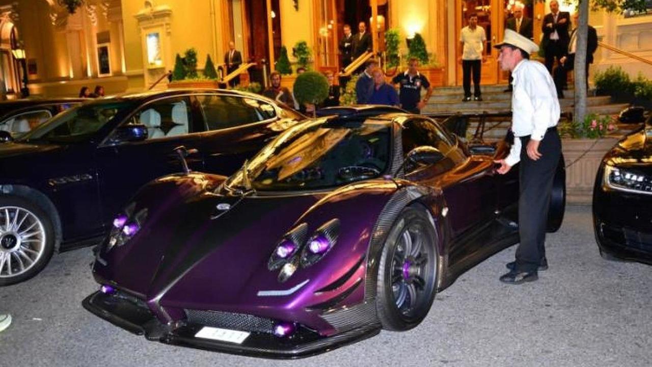 Lewis Hamilton driving his one-off Pagani Zonda 760 LH in Monaco