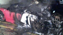 Ferrari F430 melts in Pennsylvania hospital parking garage