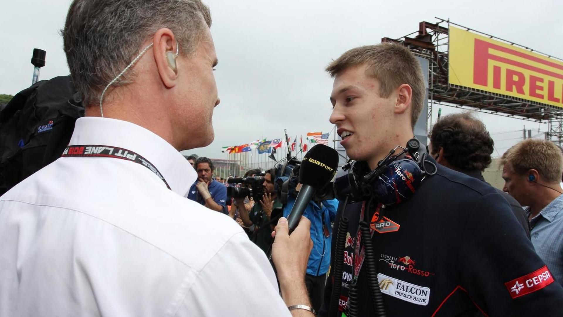 Kvyat cool ahead of F1 adventure