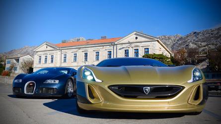 Rimac vs Veyron: head-to-head at the track