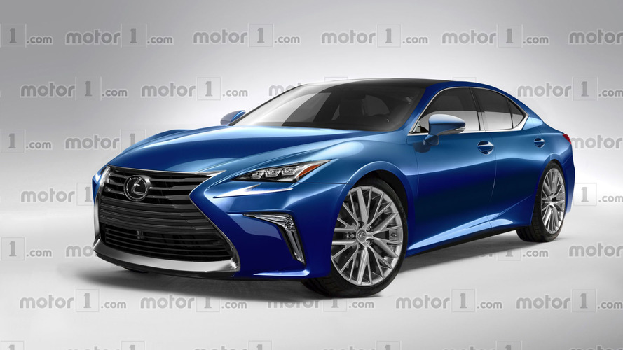 2018 Lexus LS exclusively rendered