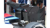 Williams test radical new rear wing