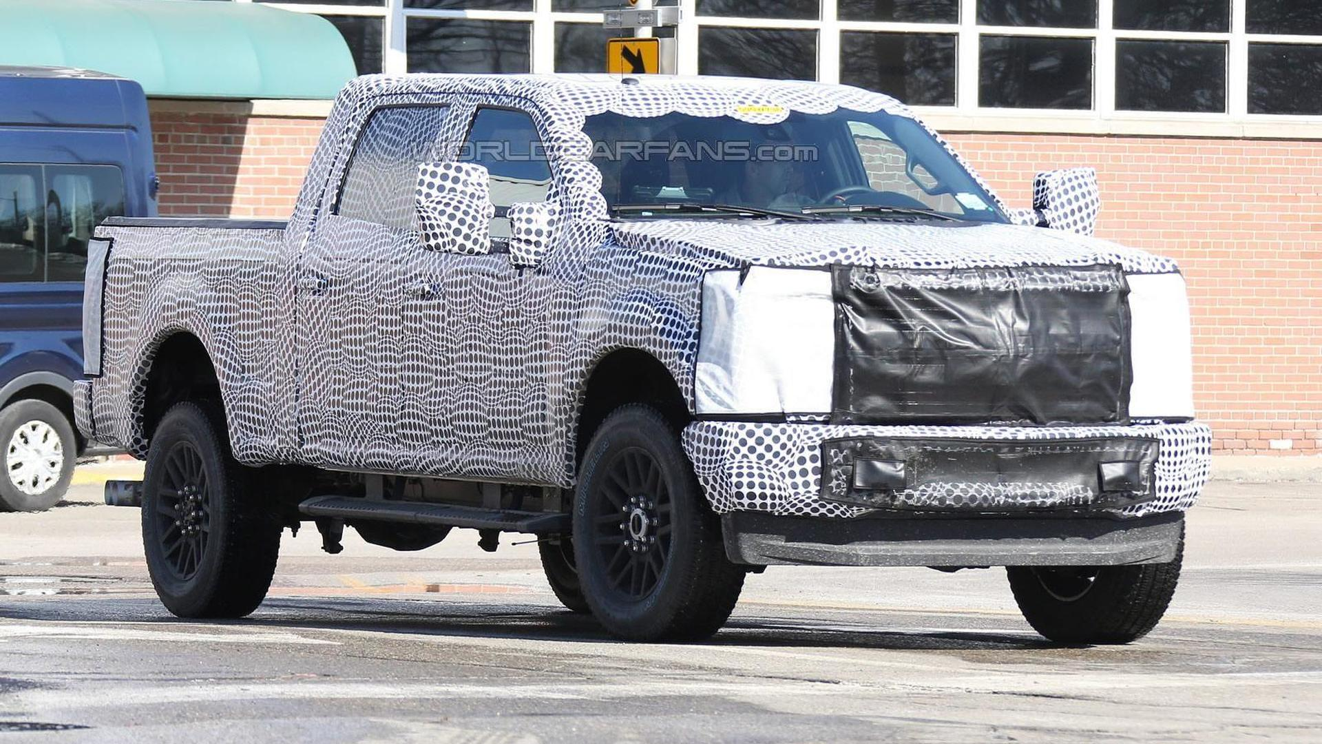 2016 Ford F-250 Super Duty spied with less camouflage