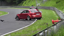 Watch a BMW 1 Series M Coupe crash at the Nürburgring