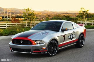 Wheels Wallpaper: 2013 Ford Mustang Red Tails Edition