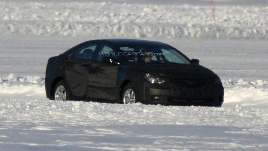 2010 Hyundai Sonata Prototype Spied testing on Frozen Lake