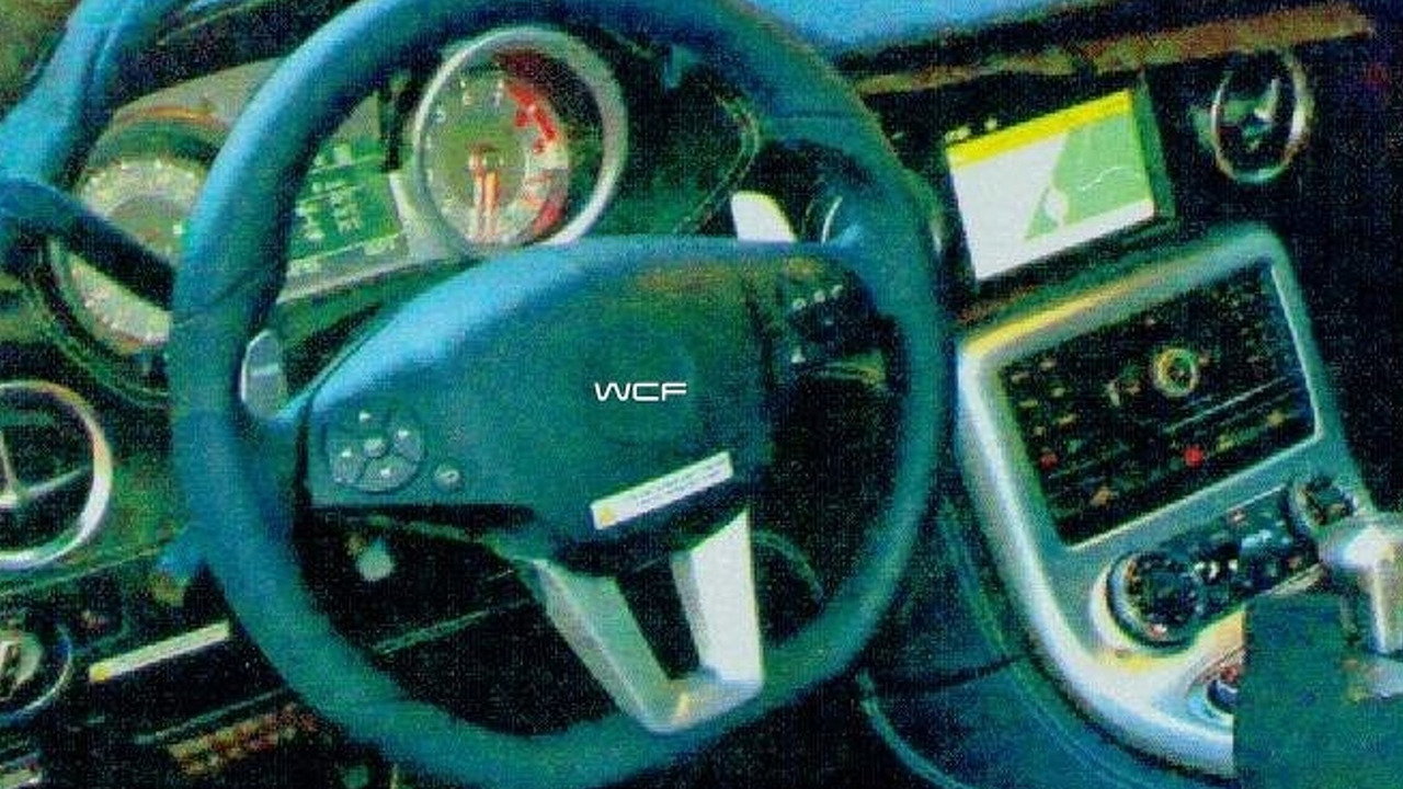 Mercedes SLC Gullwing Revival Interior spy photo