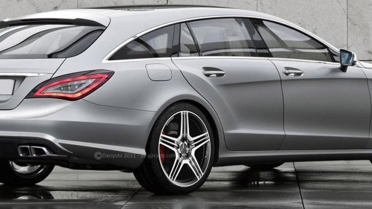 Mercedes CLS 63 AMG Shooting Brake rendering 14.10.2011