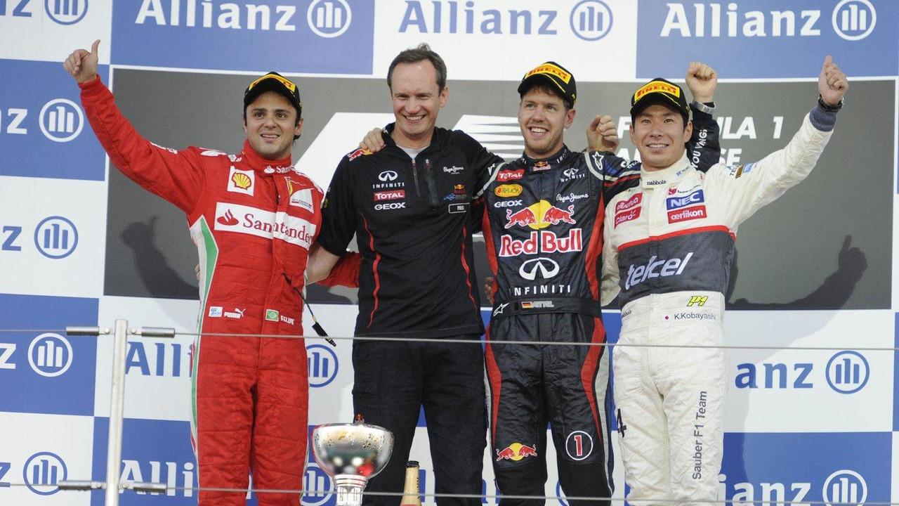 Felipe Massa, Sebastian Vettel, Kamui Kobayashi, Japanese Grand Prix, Suzuka Circuit, 7.10.2012