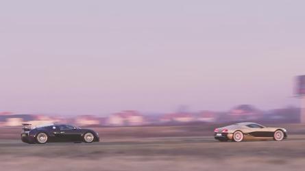 Bugatti Veyron perde de hipercarro elétrico croata em desafio de aceleração