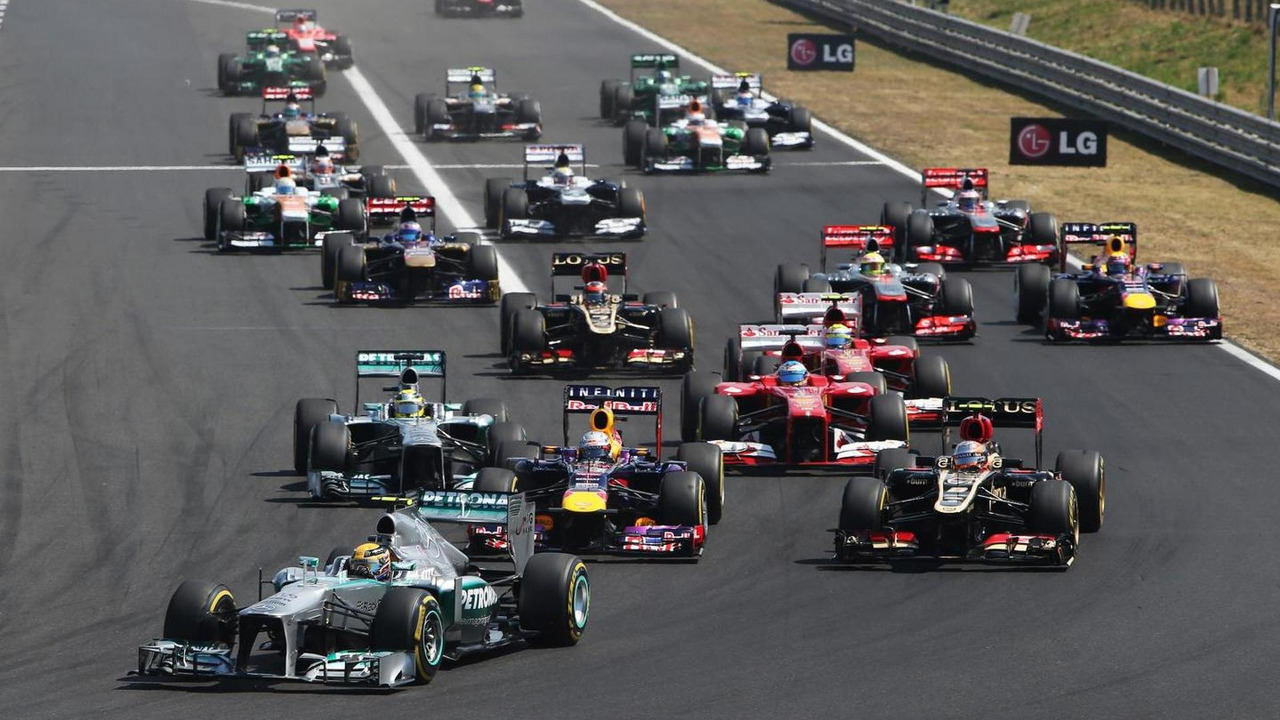 2013 Hungarian Grand Prix race start 28.07.2013