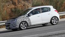 2014 Opel Corsa facelift spy photo