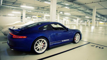 Porsche shows off the 911 5 Million Facebook fan car at Silverstone [video]