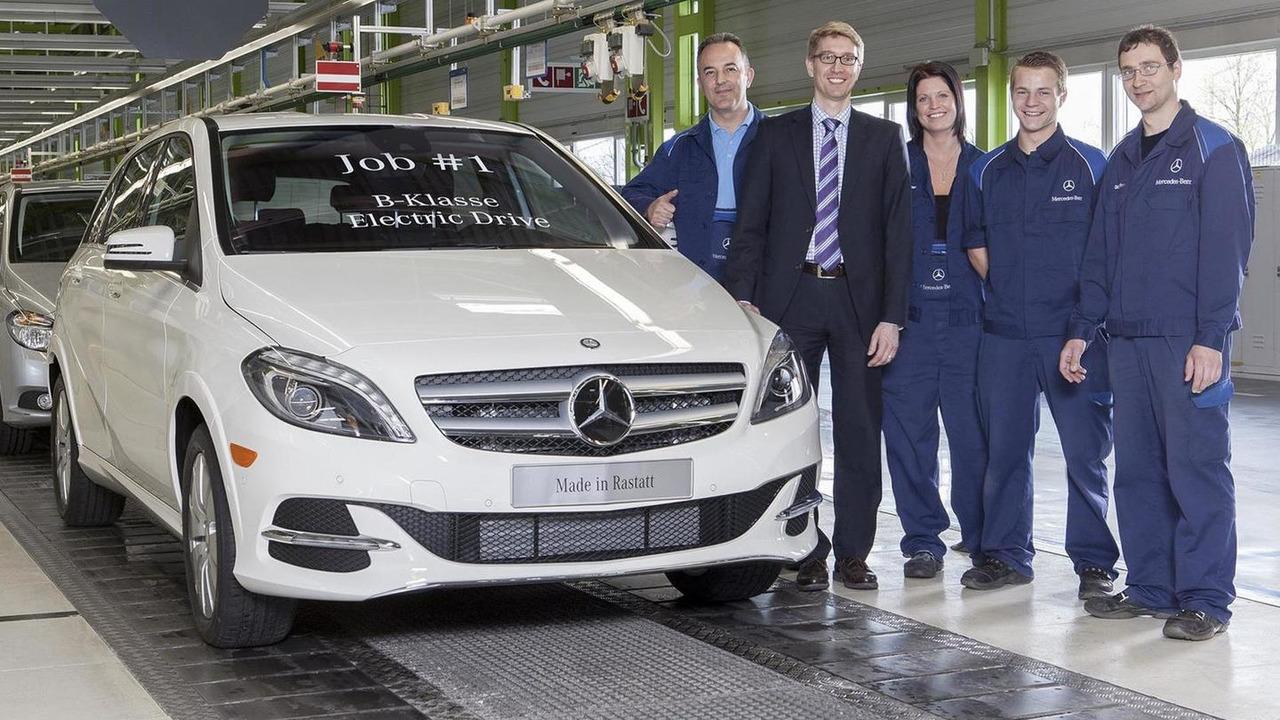 2014 Mercedes-Benz B-Class Electric Drive production begins
