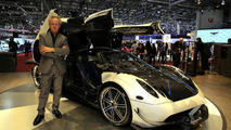 Horacio Pagani with Huayra BC in Geneva