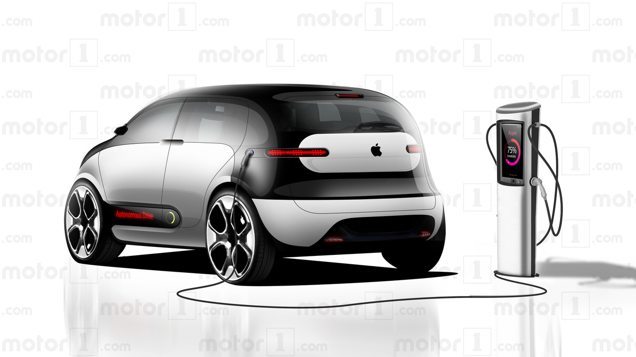 Apple Car renderings by Motor1