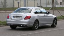 Mercedes C Class facelift spy photo