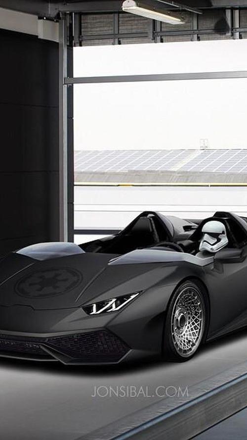 Lamborghini Huracan rendered as Star Wars-themed Huracan J