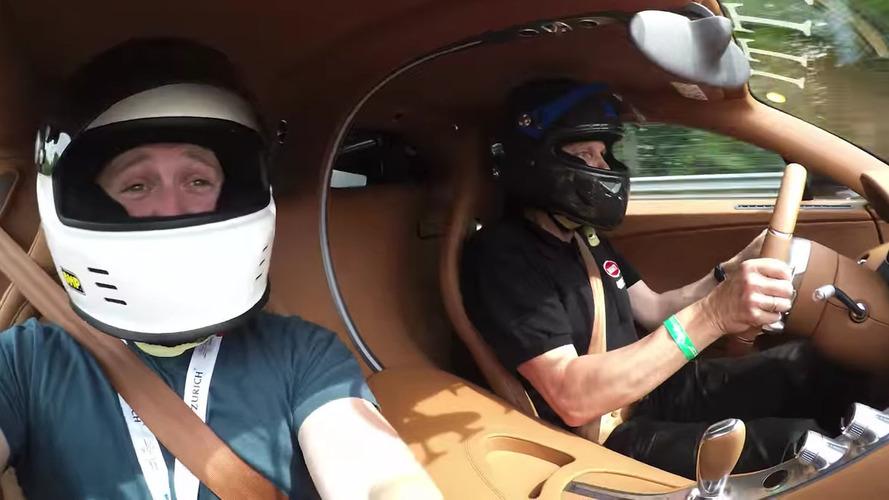 Bugatti boss blasts around 'Ring in a Chiron