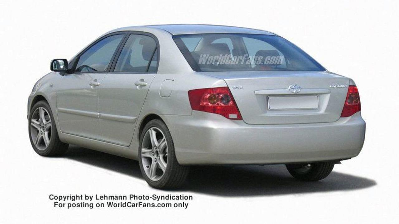 New Toyota Corolla sedan - artist impression