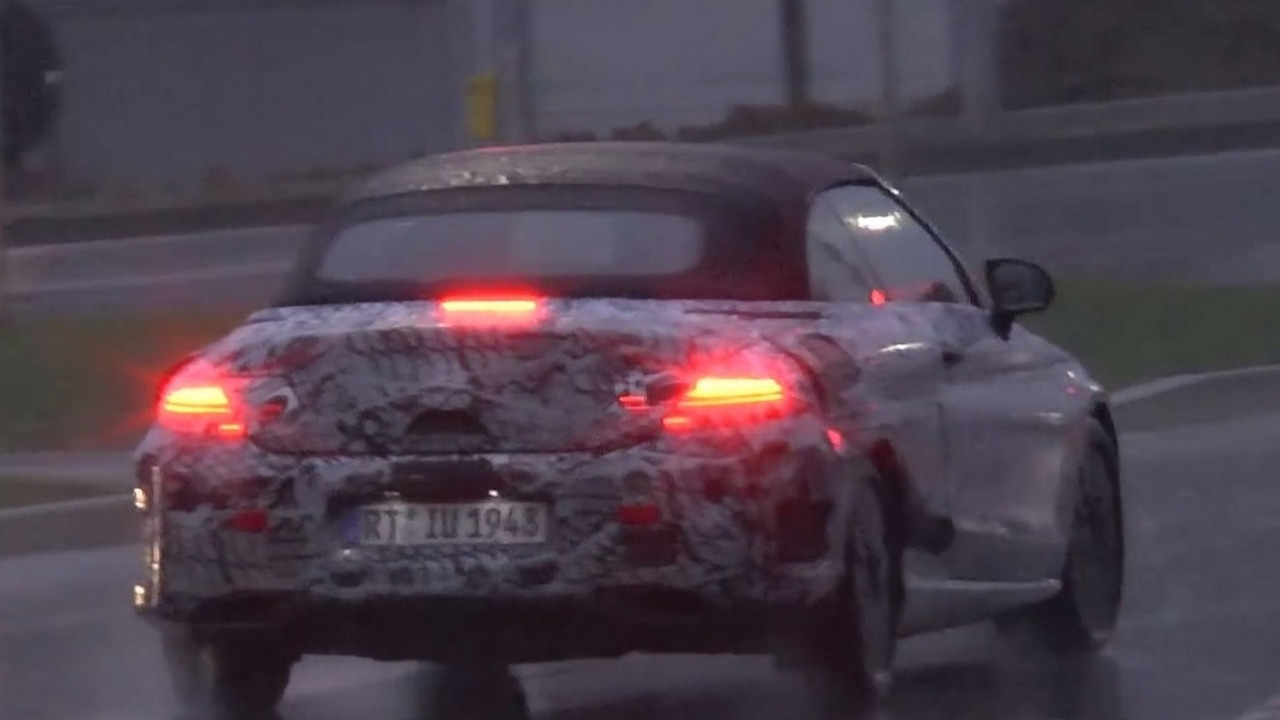 Mercedes-Benz C-Class Convertible screenshot from spy video