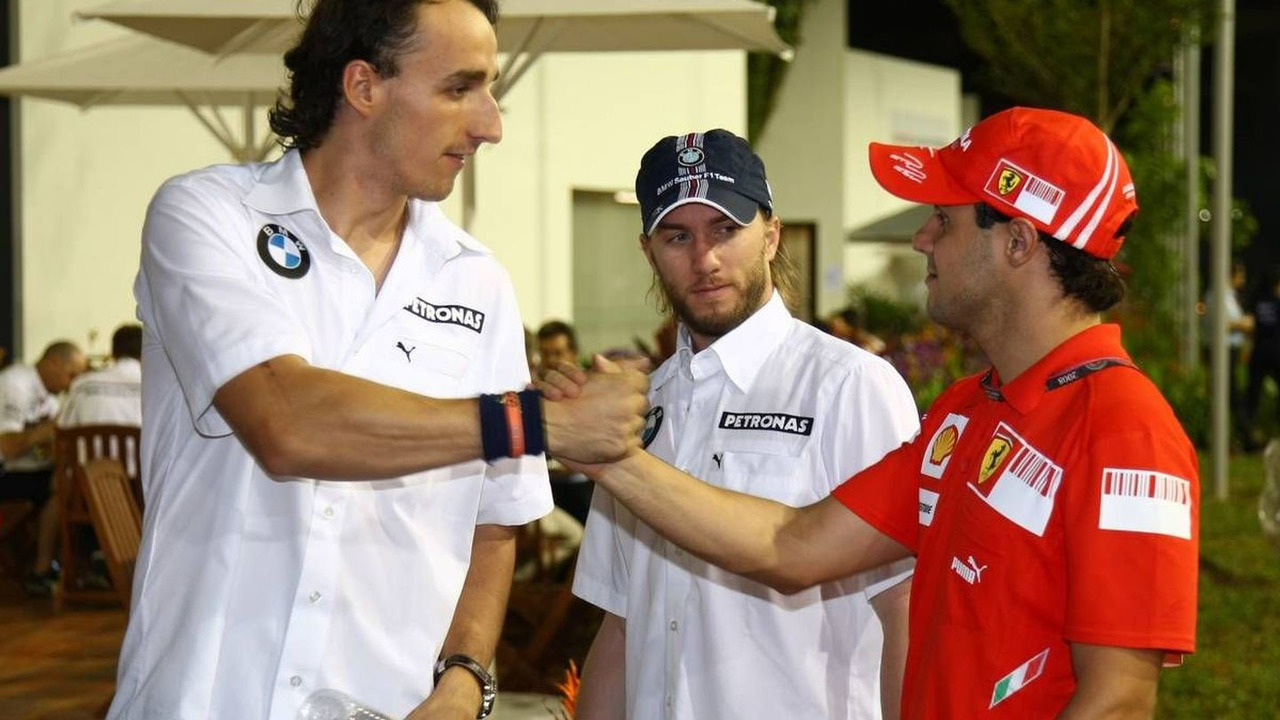 Robert Kubica (POL), Nick Heidfeld (GER), Felipe Massa (BRA), Singapore Grand Prix, 25.09.2008 Singapore City, Singapore